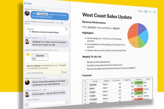 Collaboratif: Salesforce intègre Quip dans ses produits