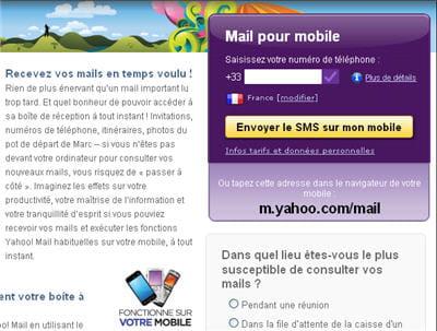 recevoir ses emails sur téléphone mobile