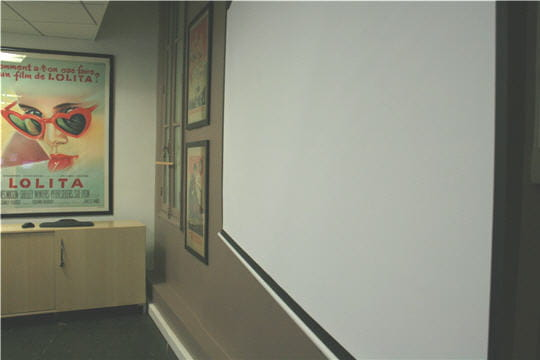 Locaux Allociné : salle de cinéma