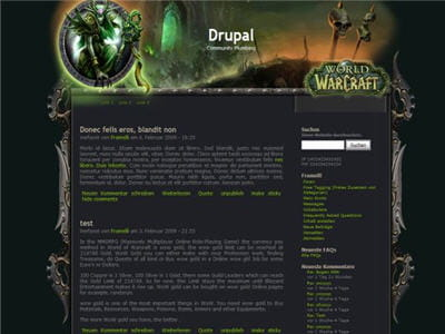 un site web d'une guilde world of warcraft conçu sous drupal