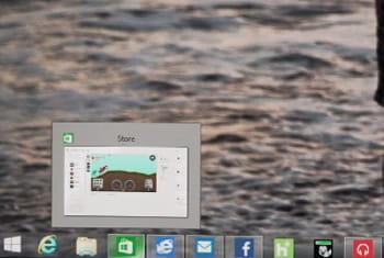 les apps modern ui peuvent être épinglées ou enlevées sur la barre des tâches.
