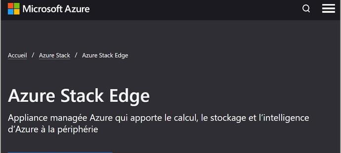 Avec Azure Stack Edge, Microsoft défie Amazon dans l'IA de proximité