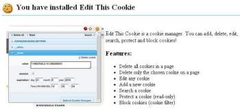 effacer tous les cookies d'une page, ou un seul, les changer, en ajouter... les