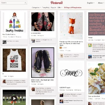pinterest, réseau social de bookmarking d'images