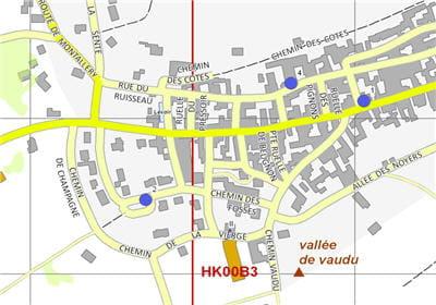 cartographie fournie par l'ign de la ville de chitry
