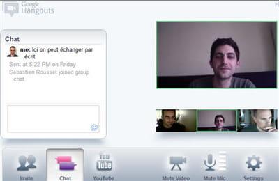 système de vidéo conférence de google plus