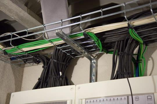 Un gros jeu de câbles
