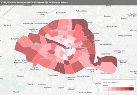 Location saisonnière à Paris: plus d'un logement sur deux dans l'illégalité