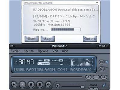 lorsqu'on ne dispose pas d'un podcast audio, streamripper est la solution.