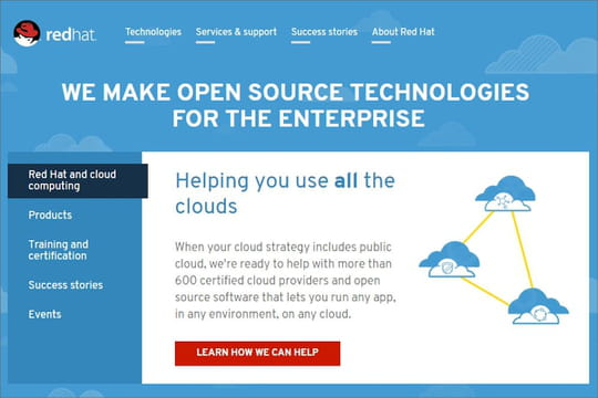 Red Hat, champion open source mondial ducloud hybride