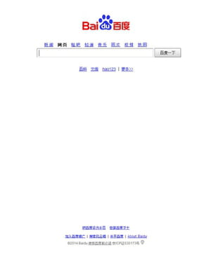 baidu concentre 66% des requêtes en chine, contre 3% pour google.