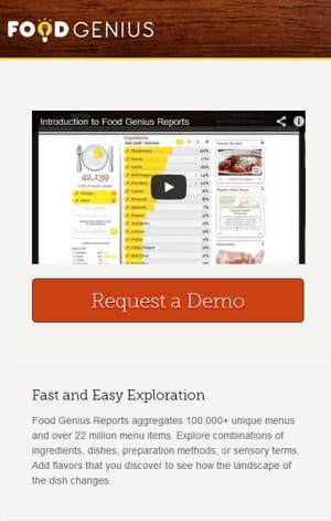 capture d'écran du site de food genius.