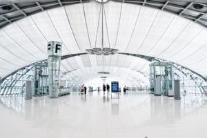 une vue de l'aéroport de bangkok.