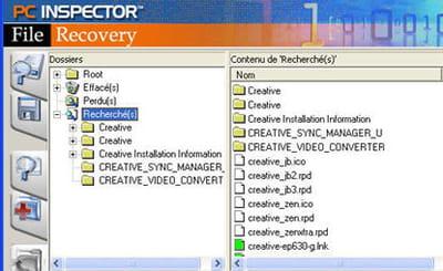 larecherche des fichiers 'creative' nous a permis de retrouver les fichiers