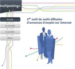 multiposting.fr, plate-forme de diffusion d'annonces de recrutement sur internet