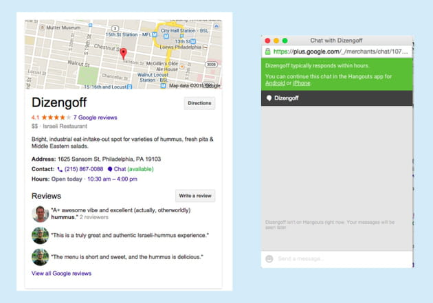google places chat