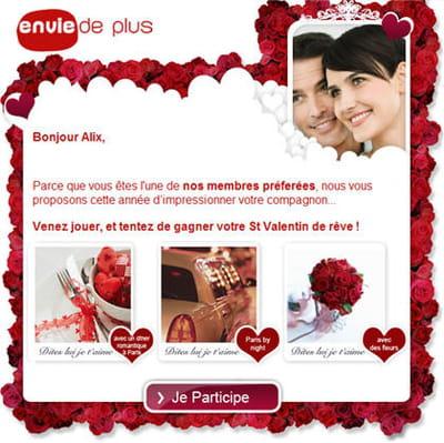 la campagne saint-valentin du programme relationnel 'envie de plus'