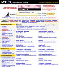 page d'accueil lycos.fr du 15février2001