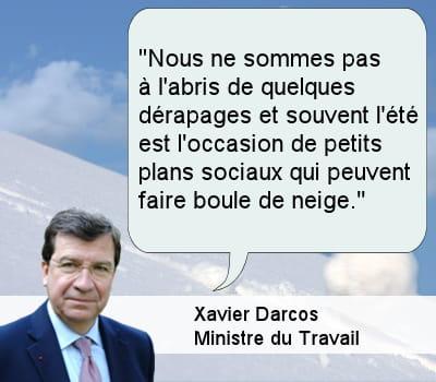xavier darcos, ministre du travail.