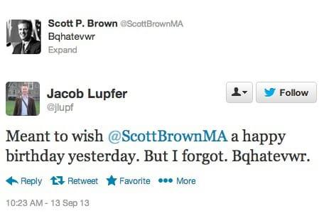 Scott Brown: effacer un tweet ne résout pas tout