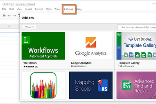 Google Docs et Google Spreadsheet intègrent les extensions