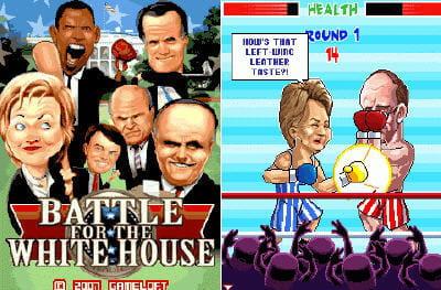 la bataille pour la maison blanche, un jeu sur mobile