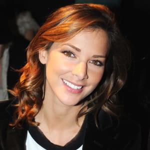 mélissa theuriau à la présentation d'un défilé de haute couture en 2008.