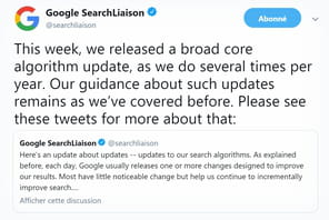 Google : la March 2019 Core Update inverse en partie les effets de la Medic Update