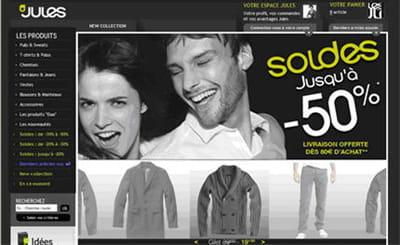 page d'accueil du site jules.fr