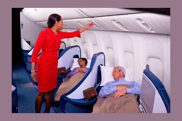 Elite business class Delta Airlines