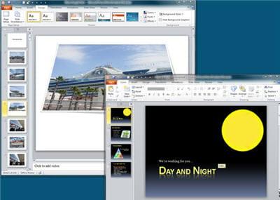 travailler sur deux powerpoint en même temps