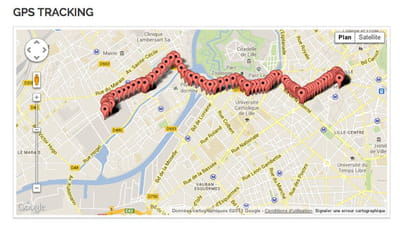 tracking du coursier par gps