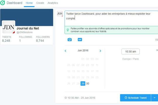 Twitter lance Dashboard, pour aider les entreprises à mieux gérer leur compte