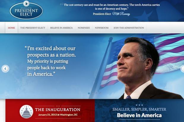 Mitt Romney site victoire en ligne