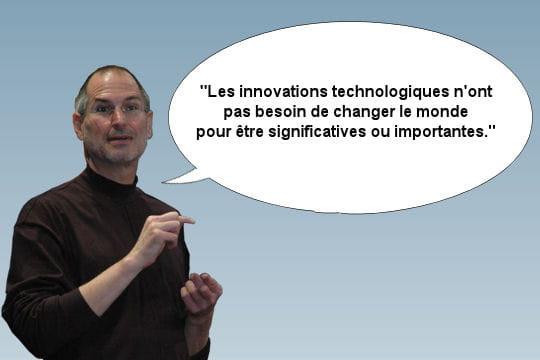 Steve Jobs relativise la portée de son travail