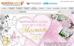 spartoo, concurrent de sarenza dans la vente en ligne de chaussures.