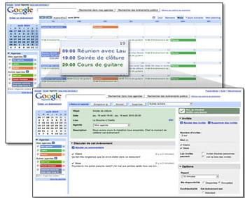 l'application google agenda