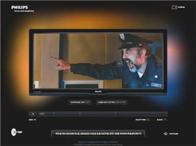 le téléviseur philips cinema 21:9.