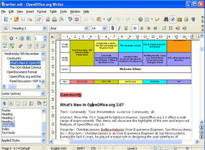 le module tableur d'openoffice.org