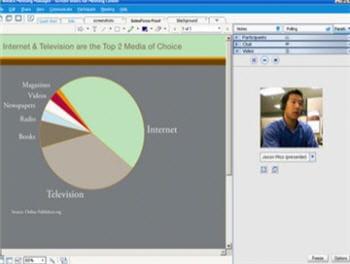 l'interface de la solution de conférence web webex meeting center.