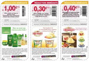 exemples de coupons de réductions générés via malistedesourses.net