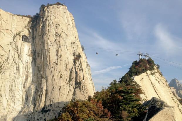 La télécabine du mont Hua: undéfitechnique