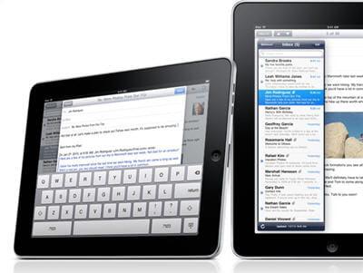 on retrouve bien sûr un clavier virtuel sur l'ipad