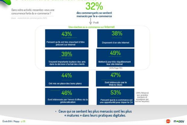 Perception de la concurrence e-commerce dans leur activité