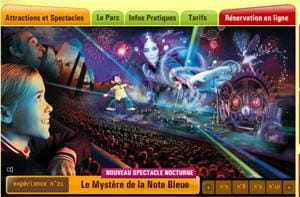 copie d'écran du site du futuroscope