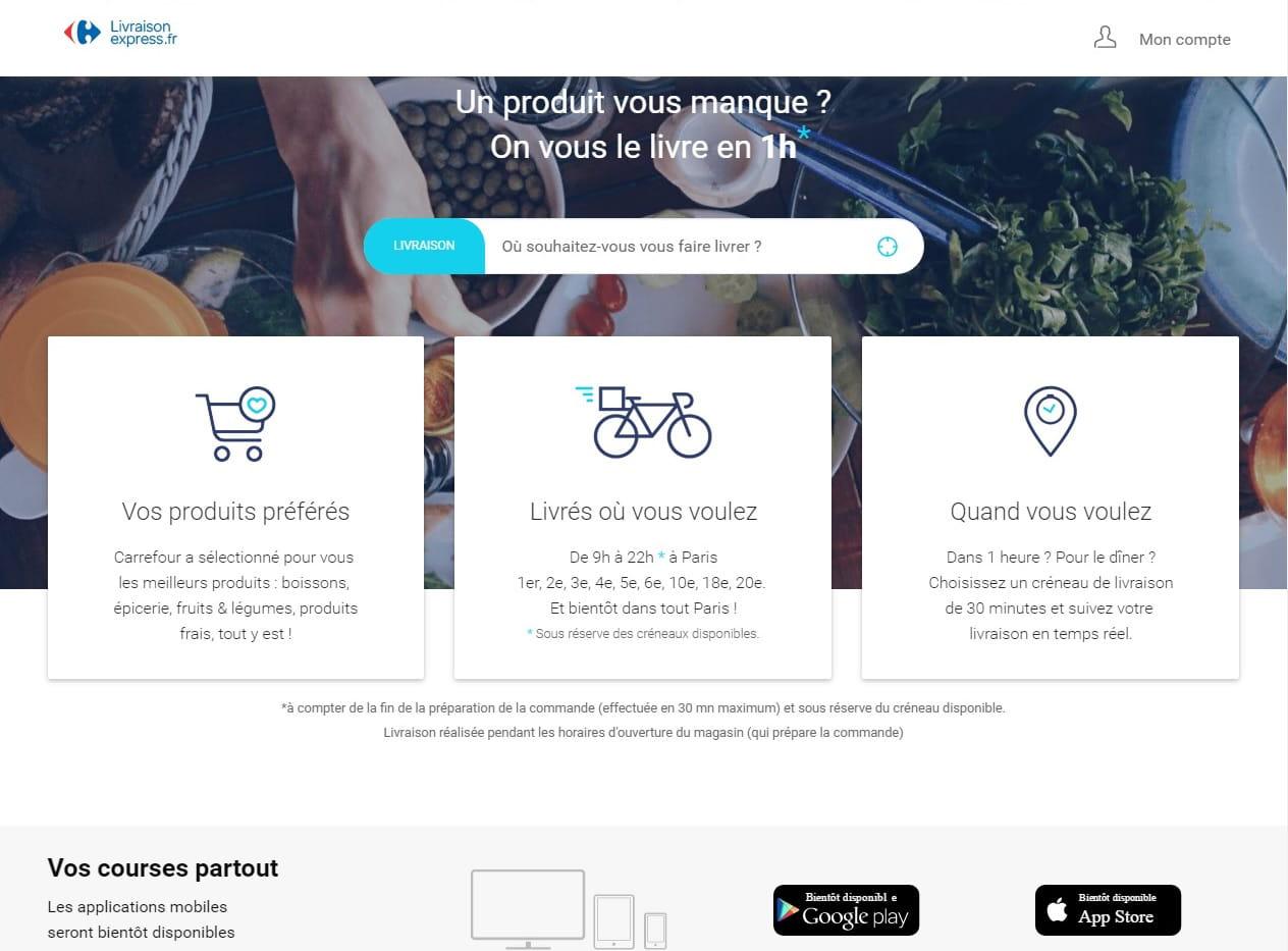 05b7d445b23c22 Info JDN   Carrefour lance sa riposte à Amazon Prime Now (et nous l ...