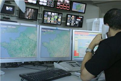 les alertes apparaissant sur la carte de france sont issues de sondes rtc