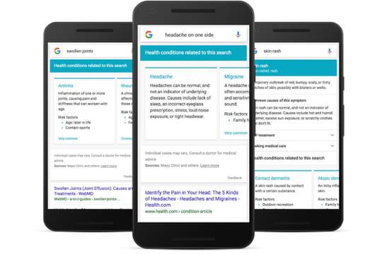 Santé : les résultats de Google vont s'enrichir pour répondre aux symptômes