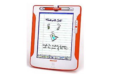 concept de tablette pc de microsoft en 2000.