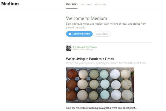 Blogging : Medium lève 57 millions de dollars malgré la concurrence de Facebook